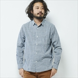 [ルールズピープス]INDIGO GINGHAM GOODAY SHIRTS