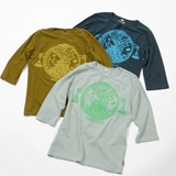 [ネイタルデザイン]FOOD CHAIN 3/4 FOOTBALL HEMP TEE