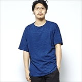 [マナスタッシュ]INDIGO SNUG FOOTBALL TEE