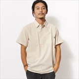 [ベニーゴールド]STRIPED POPOVER SHIRT