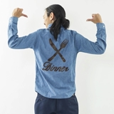 [ディナー]BACK LOGO CHAMBRAY