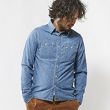 [ガンホー]CHAMBRAY WORK SHIRTS