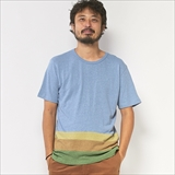 [ゴーヘンプ]BASIC S/SL TEE/HEMP ORGANIC COTTON PATCHWORK