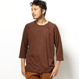 [ゴーヘンプ]HEMP×ORGANIC COTTON BASIC FOOTBALL TEE