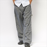 [ゴーヘンプ]CARGO PAINTER PANTS/ H/C HICKORY STRIPE ONE WASH