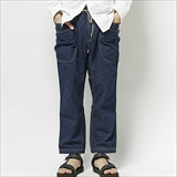 [ゴーヘンプ]VENDOR CHILL PANTS/JAZ NEP WORK DENIM ONE WASH