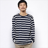[グリーンヒルズ]LONG SLEEVE BORDER CREW NECK