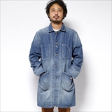 [ゴーウエスト]ENGINEER COAT/8oz WORK DENIM USED WASH
