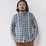 "[ゴーウエスト]SLIM FIT BD SHIRTS/CHECK TWILL ""硫化染め"""