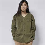 [ゴーウエスト]50'S BS SHIRTS/US ARMY HERRINGBONE