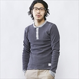 [ジムマスター]Heavy Thermal Henley-neck