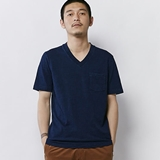[ヘルスニット]ISJ V-neck Pocket S/S Tee