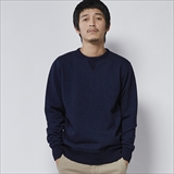 [ヘルスニット]Indigo Slab Fleece Crew L/S