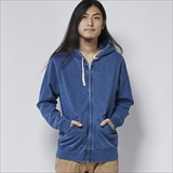 [ヘルスニット]Indigo Slab Fleece Zip Parka