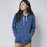 [ヘルスニット]Indigo Slab Fleece Pullover Parka