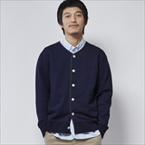 [ヘルスニット]Indigo Slab Fleece NAVY Cardigan