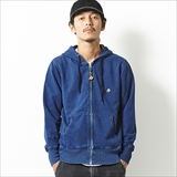 [ナチュラルバイシクル]EZONOHA indigo sweat zip parka