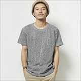 [ネイタルデザイン]CREW NECK HEMP TEE HEATHER POCKET