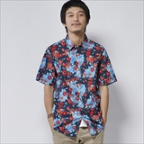 [ポーラ]FLORAL FANTASIA SHORT SLEEVE BUTTTON UP
