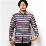 [ローター]Multi border Work shirt