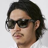[ダンシェイズ]LOCO Black Gloss /Gray CAMO x Chrome Mirror Polarized