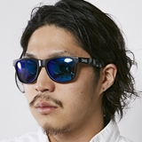 [ダンシェイズ]LOCO Black Matte X Green Mirror Polarized with BEER