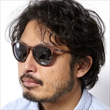 [ダンシェイズ]FENTON  Wood Matte x Flash Mirror Polarized lens