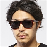 [ダンシェイズ]LOCO Clear Brown with Geometric x Black Polarized