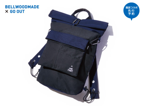 BELLWOODMADE×GO OUT「ROLL KNAPSACK With STANDARD SACOCHE」