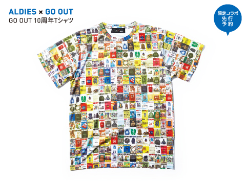 ALDIES×GO OUT「GO OUT 10周年Tシャツ」
