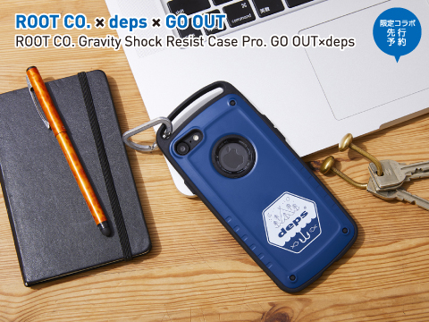 ROOT CO.×deps ×GO OUT「ROOT CO. Gravity Shock Resist Case Pro. GO OUT×deps」