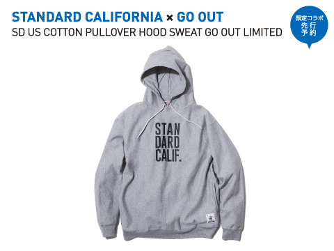 STANDARD CALIFORNIA×GO OUT「SD US COTTON PULLOVER HOOD SWEAT GO OUT LIMITED」