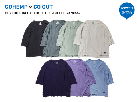 GOHEMP×GO OUT「BIG FOOTBALL POCKET TEE -GO OUT Version-」
